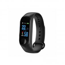 Smart Bracelet No Brand M3, 18mm, Bluetooth, IP67, Μαυρο