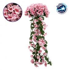 Τεχνητό Φυτό Διακοσμητικό Μπουκέτο Λουλούδια Φλόξ Ροζ Διαστάσεων M30cm x Υ80cm Π30cm με 4 X Κρεμαστά Κλαδιά GloboStar 09064