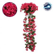 Τεχνητό Φυτό Διακοσμητικό Μπουκέτο Λουλούδια Φλόξ Φούξια Διαστάσεων M30cm x Υ80cm Π30cm με 4 X Κρεμαστά Κλαδιά GloboStar 09065