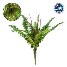 Τεχνητό Φυτό Διακοσμητικό Μπουκέτο Φτέρη της Βοστώνης Πράσινο M50cm x Υ40cm Π50cm με 16 Κλαδάκια GloboStar 09090