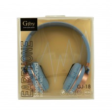 Ακουστικά με Μικρόφωνο GJBY - AUDIO EXTRA BASS GJ-18 Μπλε