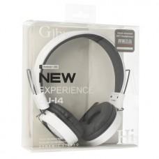 Ακουστικά με Μικρόφωνο GJBY - AUDIO EXTRA BASS GJ-14 Λευκό