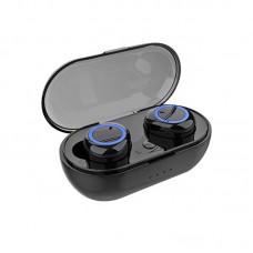 Ακουστικά Bluetooth TWS-C12 Power Bank Μαύρο και Μπλε
