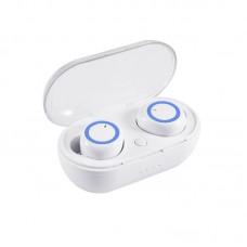 Ακουστικά Bluetooth TWS-C12 Power Bank Λευκό και Μπλε